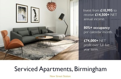 Earn 14,500 GBP + Passive Income PA | Birmingham Serviced Apartments
