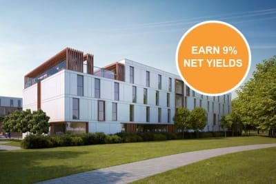 High-spec student studios - 9% NET for 5 years Location Newcastle-Under-Lyme