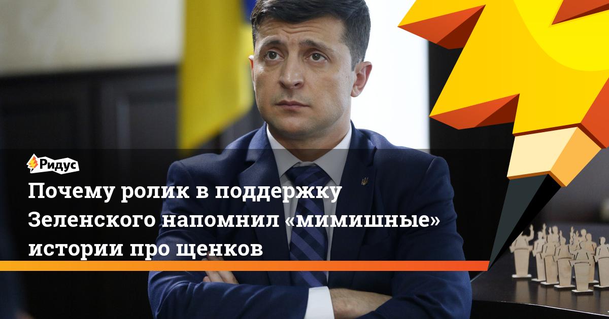 Почему ролик вподдержку Зеленского напомнил «мимишные» истории про щенков