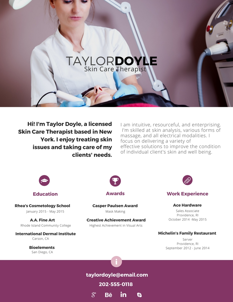 Creative Resume for Cosmetologists zjp1kx - Jackie Bernardi Cosmetology Home Page