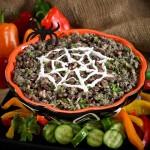 Spooky Spider Web Bean Dip