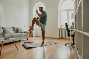 man doing an exercise