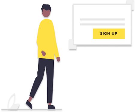 sign up illustration