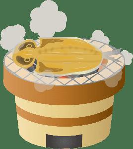 らいおんのぱぱー七輪と干物