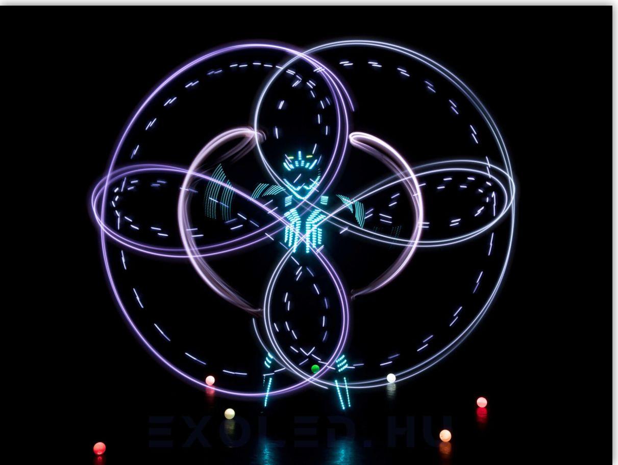 LED zsonglőr show és fénycirkusz bemutatóink