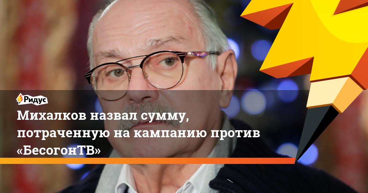 Михалков назвал сумму, потраченную на кампанию против «БесогонТВ»