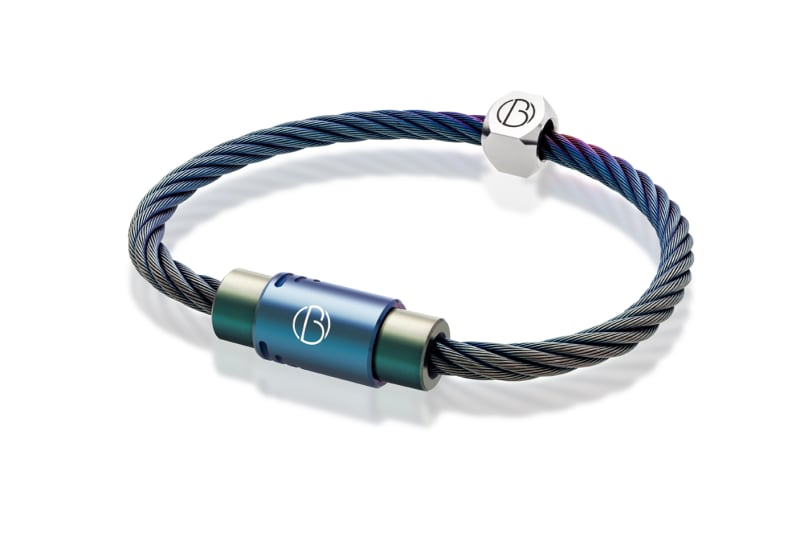 Bailey of Sheffield | CABLE™ Petrol Stainless Steel Bracelet