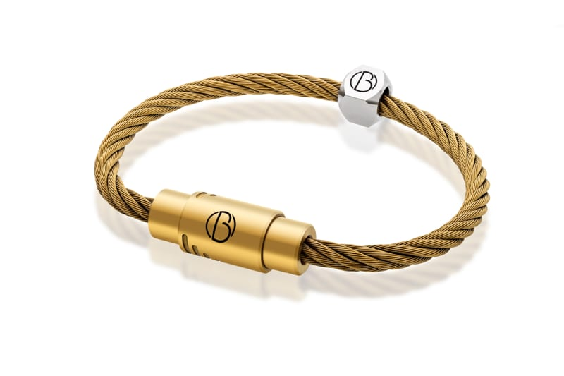 Bailey of Sheffield | CABLE™ Matte Gold Stainless Steel Bracelet