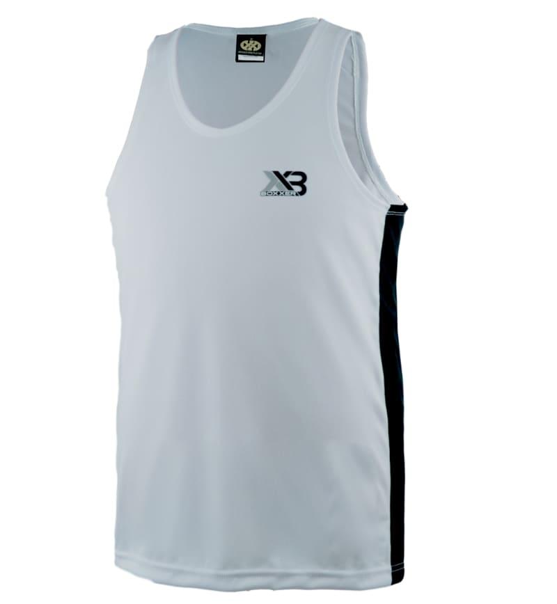 Boxxerworld Assassin Vest White/ Black