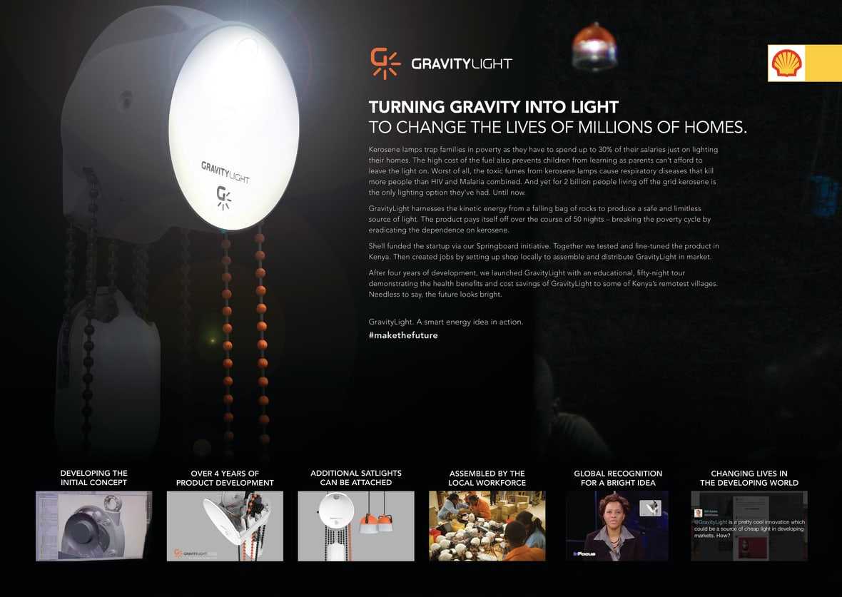 Gravity Light - Shell - J  Walter Thompson London