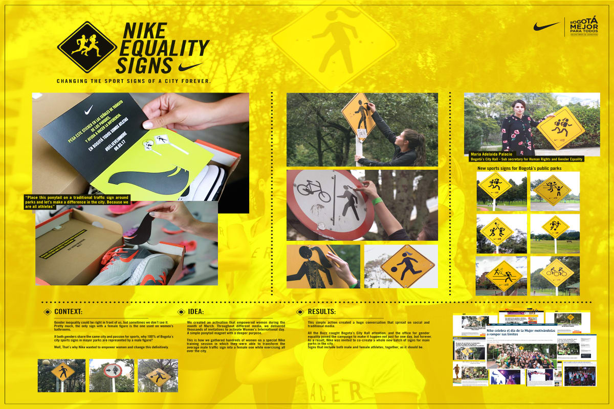 newest a0f21 2a4d1 Equality Signs - Nike - Wunderman Thompson Colombia