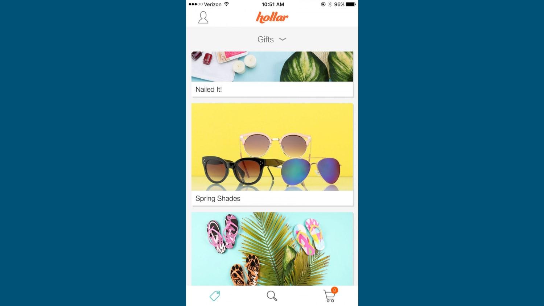 WEB Hollar App i OS Gifts