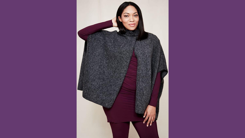 WEB 11 Boiled Wool Cape Gray 012