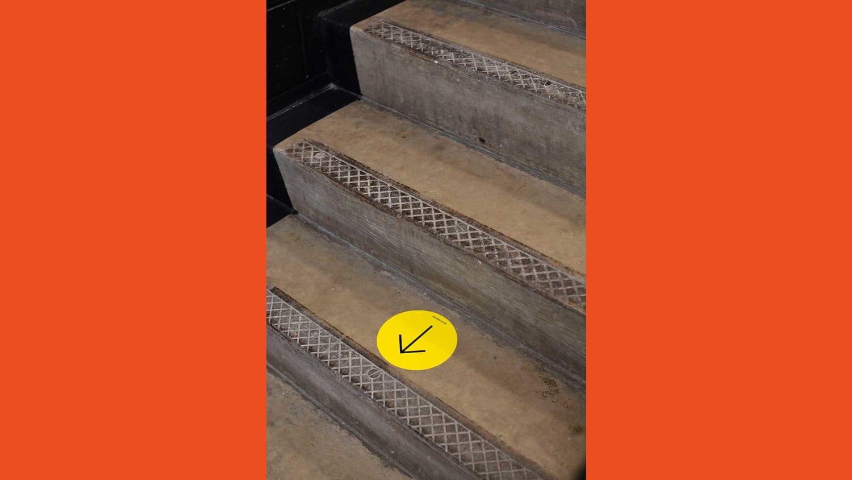 WEB Way Forward Signage Floor Arrow Stair