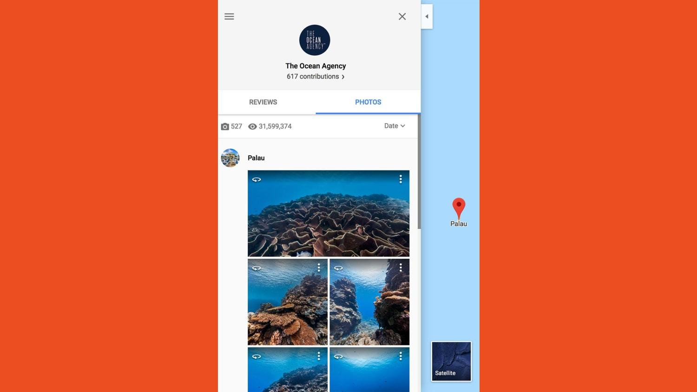 WEB google maps underwater street view