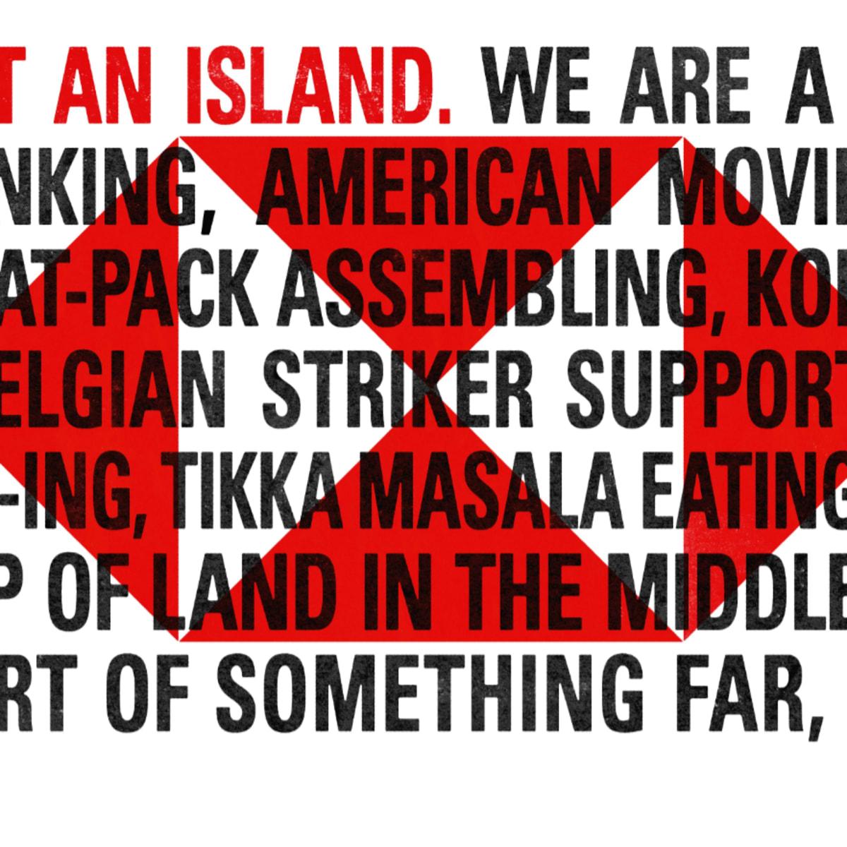 London HSBC We Are Not An Island Hero