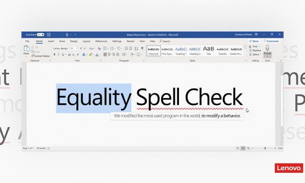 Equality Spell Check