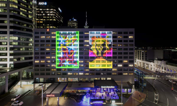NZ Copper Brand Experiences Samsung Galaxy Note9 Launch Auckland Building Projection 01