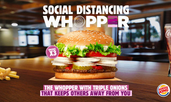 The Social Distancing Whopper