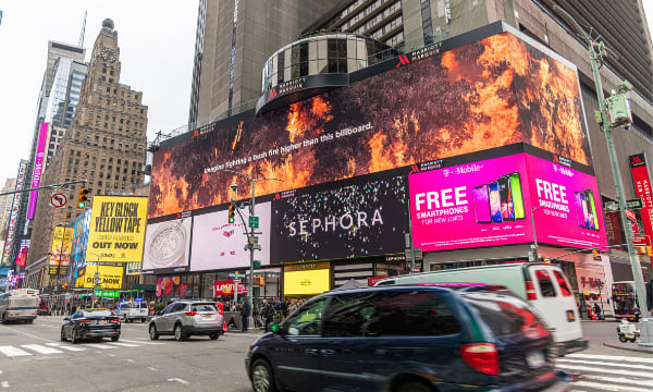 RFS takes over New York's Times Square to thank firefighters