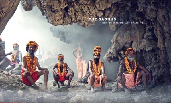 Aboriginies in a stone cave