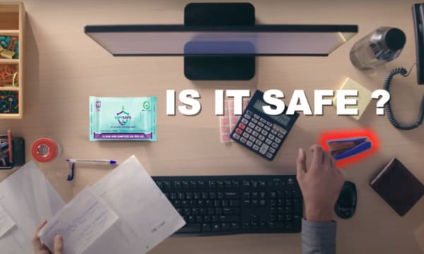 Is it safe to touch stationery on a desk?