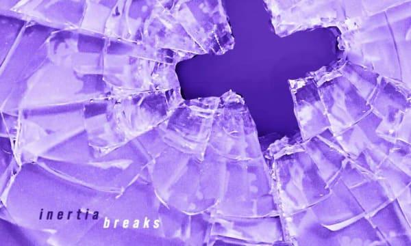 purple plus sign on light purple background