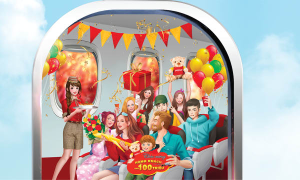 "VietJet Air - ""Fly around Asia and hunt for the 1kg golden aircraft"" campaign"