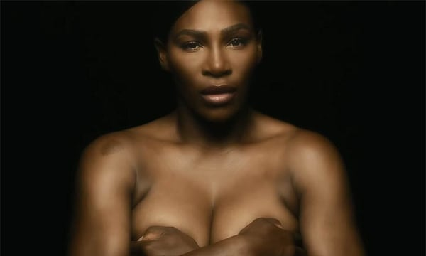 Serena Williams Topless for Breast Cancer Awareness Month