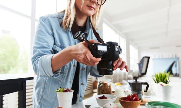 food photographer at work