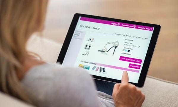 online shopping woman
