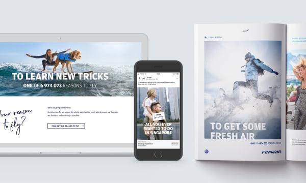 Finnair advertising media examples