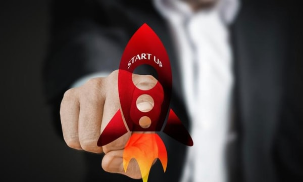 Rocket with start up