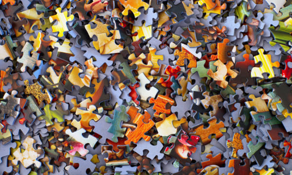 Jigsaw puzzle image to show creative collaboration