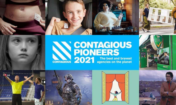 collage of images to promote Contagious Pioneers 2021