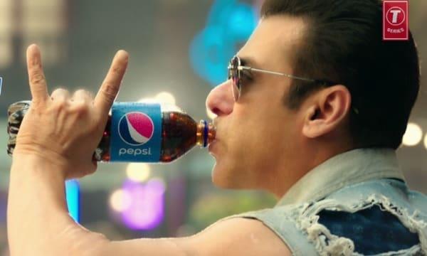 Bollywood actor Salman Khan with the 'swag' symbol