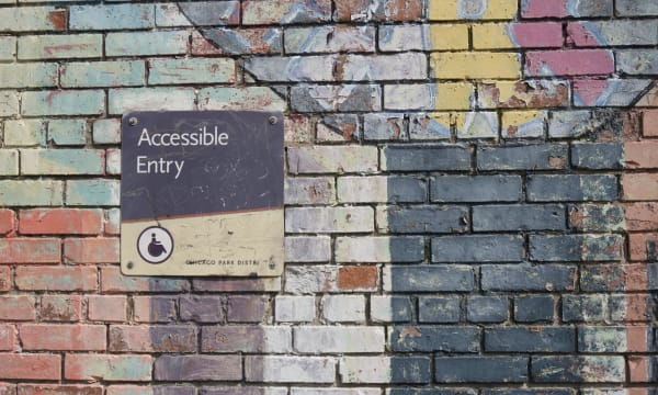 Accessibility / Graffiti wall