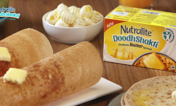 Product shot of Nutralite DoodhShakti Probiotic Butter Spread