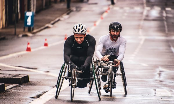 Two cyclist running on each other