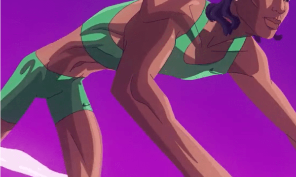 image of caster semanya getting ready to run