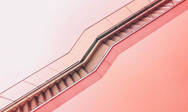 pink horizontal and zig zag line that looks like a zipper