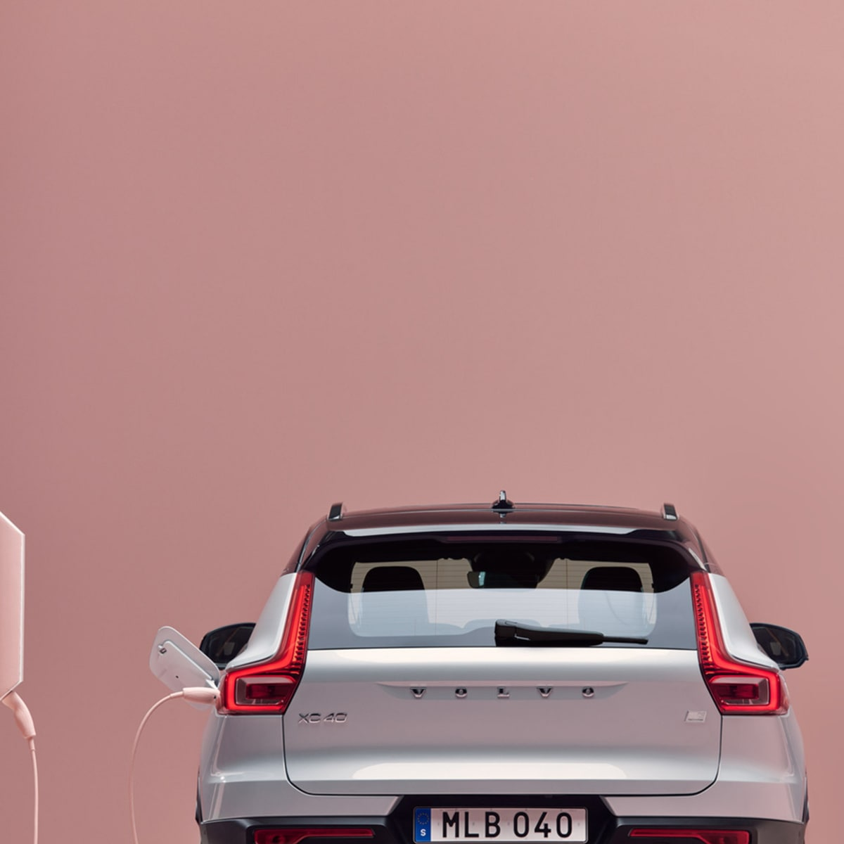 Volvo car rear view
