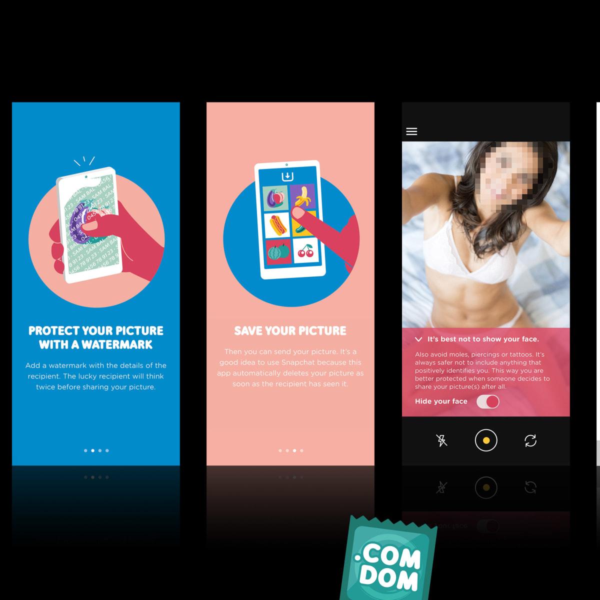 .comdom App Frames