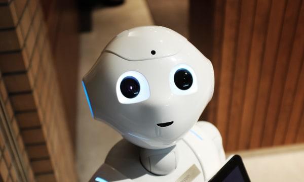 cute roboter face