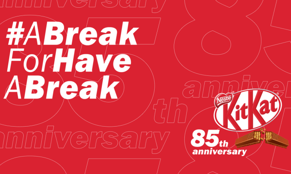 Ad for Kit Kat Have a Break 85th Anniversary