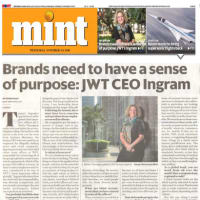 Brands need to have a sense of purpose: JWT CEO Ingram