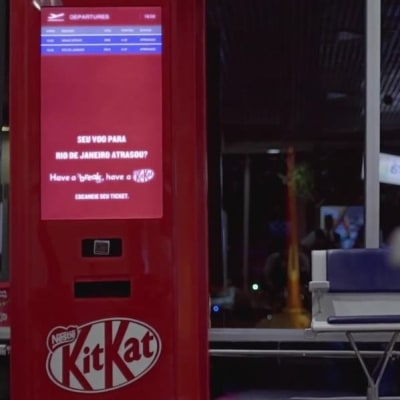 JWT Brazil Created a Free Kit Kat Vending Machine in the Sao Paolo  Airport