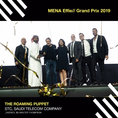 "JWT KSA wins Festival Grand Prix at MENA Effie 2019 for STC's ""Roaming Puppet"""