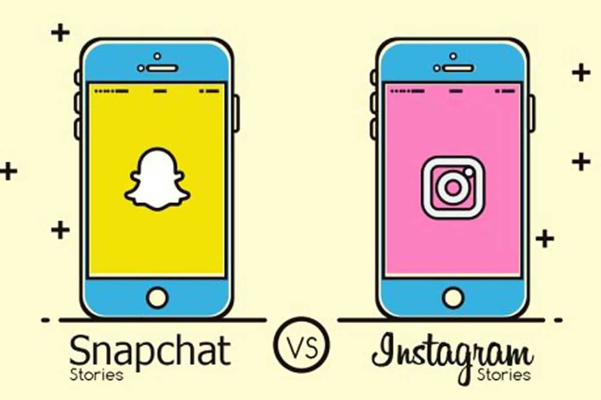 Snapchat Instagram Infographic