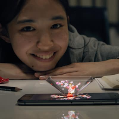 KIT MAIL Hologram Offers Cheer to Hard-Working Students